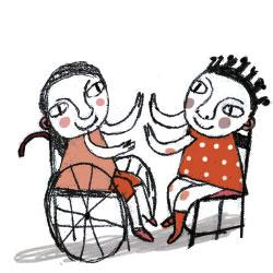 repeitar-e-preciso-crianca-cuidados-rodas-cadeira