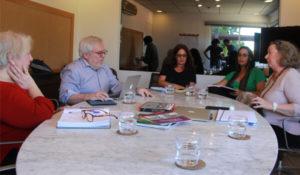 O pesquisador José Manuel Rezende durante conversa no Instituto Vladimir Herzog (Foto: Vagner Alencar)