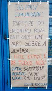 Cartaz convocando para a reunião em 22 de agosto.
