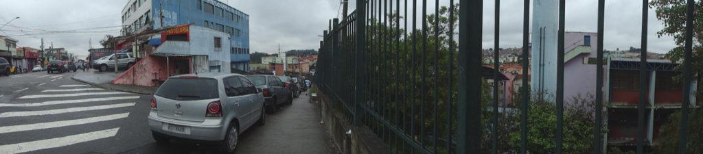 Panorâmica da rua Domingos Rosolia.