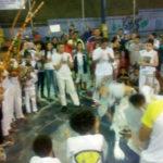 Roda de capoeira durante o evento de reinauguração da quadra, em 31/08.