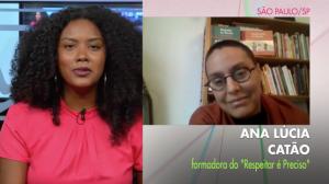 Ana Lúcia Catão, no programa Conexão, do Canal Futura